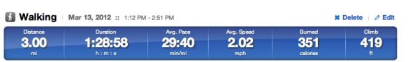 Runkeeper Stats